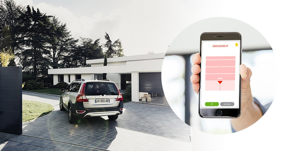 Somfy smart home acc s for Application iphone pour ouvrir porte garage